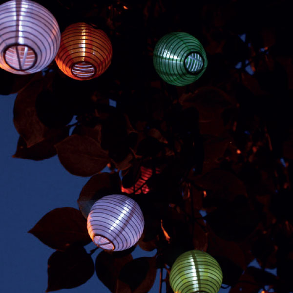 Guirlande lampions solaire